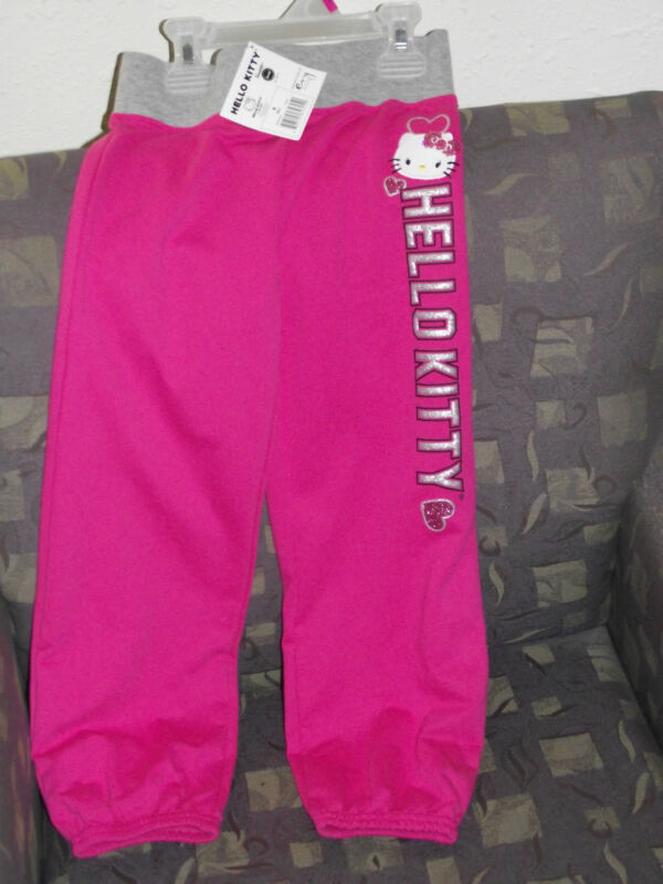 Hello Kitty french terry pants one Pair Size 4 girls NWT
