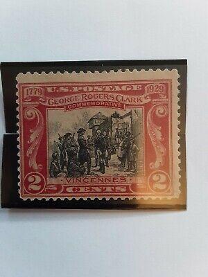 1929 U.S. Postage 2 Cents Scott #651 George Rogers Clark Commemorative