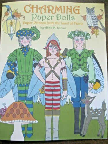 NEW!  3-Doll CHARMING Paper Doll Princes from Faerie Book from Paperdoll Review