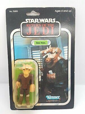 vintage star wars moc kenner action figure Ree-Yees 77 Back 1983 ROTJ +star case