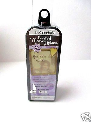 (Ranger Ink Inkssentials Jewelry Frosted Memory Glass 1 X 1 Mixed Media FREE SHIP)