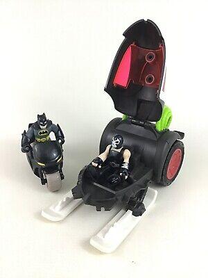 Imaginext DC Super Friends Batman Motorcycle and Bane Battle Sled Figures Mattel