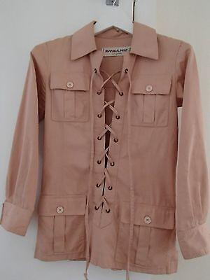 Iconic Vintage 1968 YVES SAINT LAURENT Safari Tunic as seen on Veruschka