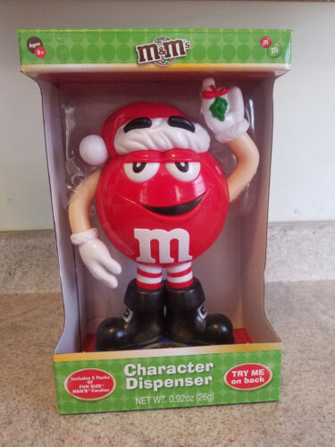 M&M Christmas Holiday Character Dispenser RED 2017