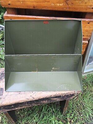 vintage Industrial metal veteran series filling Flip Open Box