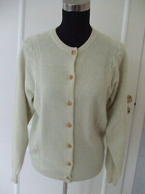Lovely 100% 2Ply Scottish Cashmere Cardigan by KINROSS NEW