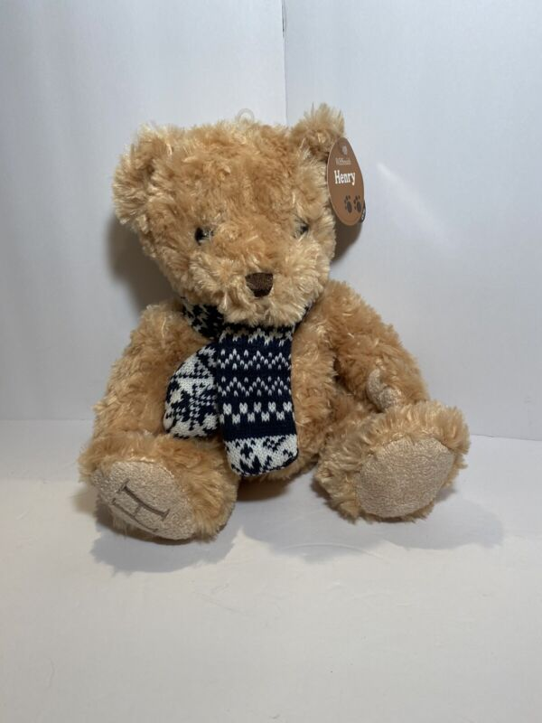 WH Smith Henry Bear with Blue scarf, plush collectible NOS w/ tags Excel Cond