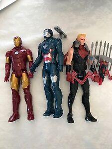 "Avengers 12"" characters x3"