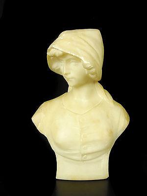 Guglielmo PUGI buste de jeune femme marbre 20c young female bust busto femminile