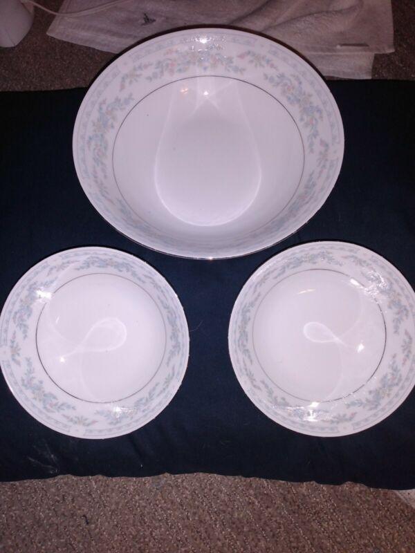 2 Soup Bowls One Serving Bowl