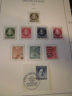 Sammlung Berlin gestempelt 1950-1959 komplett 106-109 geprüft (1406)