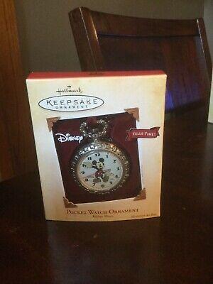 2004 Hallmark Mickey Mouse Pocket Watch ornament MIB