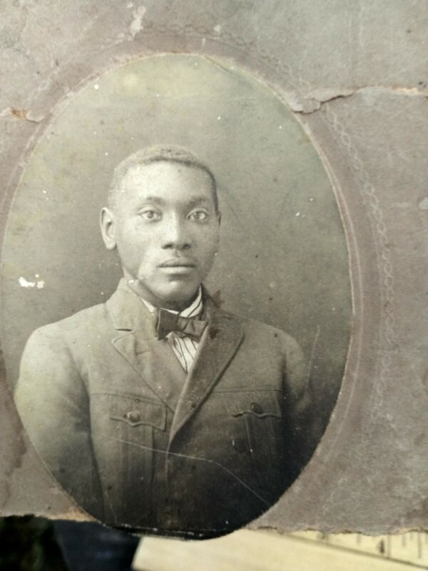 African American male cabinet card from Greenville Mississippi
