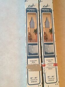 2 Boxes of New White Metal Curtain Rod Tops
