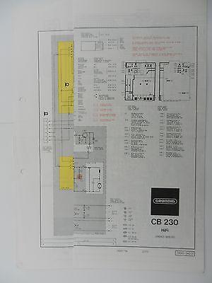 CB 230 Original Schaltplan für GRUNDIG Hifi Cassettendeck online kaufen