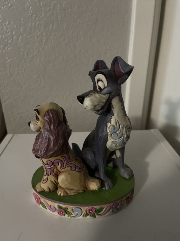 Disney Tradition Jim Shore Lady and the Tramp Opposites Attract Figurine Retired