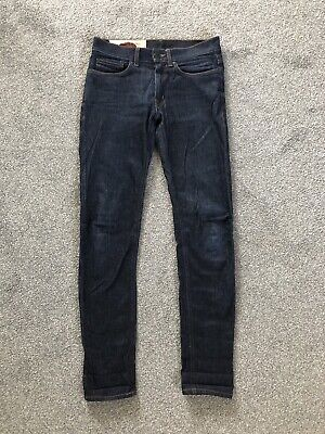 Kent And Curwen Skinny Blue Linton Jeans Raw Beckham W30