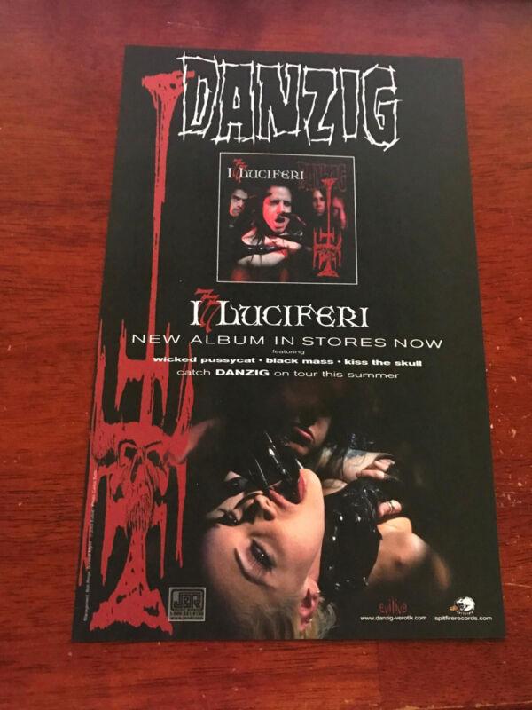 2002 ALBUM PROMO 6.5x10 COLOR PRINT AD FOR DANZIG I, LUCIFERI SPITFIRE RECORDS