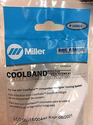 Miller 243932 Filter Coolband Coolband Ii Filters 10 Pack