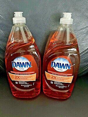 2 x Dawn Anti-Bacterial Dishwashing Liquid Dish Soap, ORANGE SCENT 21.6 Oz Each