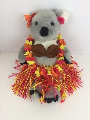 Build a Bear Koala Bear Plush Toy Hawaiian Outfit Lei Skirt Coconut Top 15