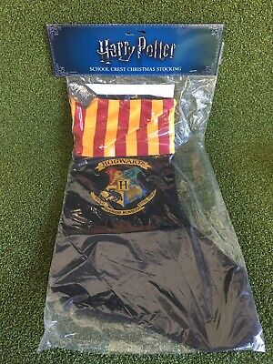 Genuine Harry Potter Christmas Stocking Hogwarts Gryffindor Colours BNWB