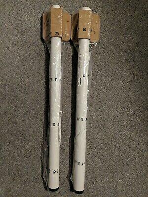 NEW Ikea Adils Leg Set of 2 White 902.179.72 w/METAL BRACKET Replacement 22724