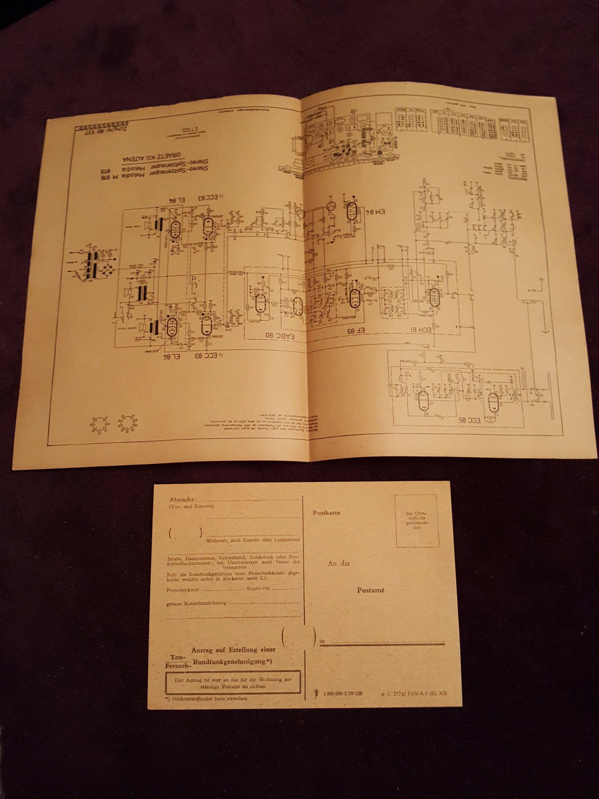 Original Service Manual Graetz Melodia M 818