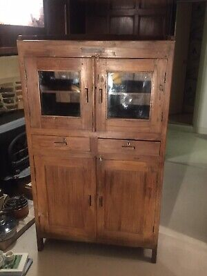 Rustic Traditional Kitchen Cupboard Cabinet Indian Hard Wood Vintage