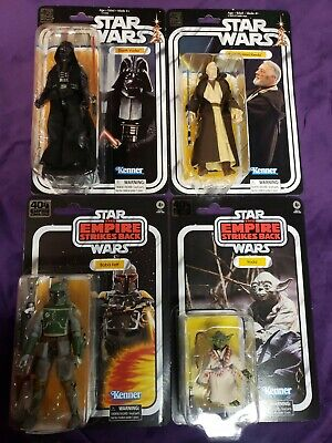 Star Wars Black Series 6 inch Vintage Card Lot Vader Obi-wan Boba Fett Yoda
