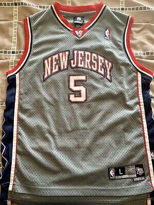 Jason Kidd New Jersey Nets NBA Authentic Reebok Jersey Sz YL 14-16