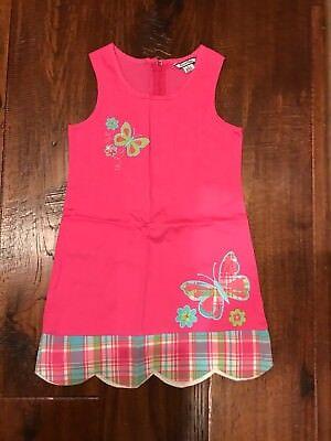 Hot Girls In Dresses (Hartstrings Hot Pink Dress w/ Butterfly Theme in Girls Size)