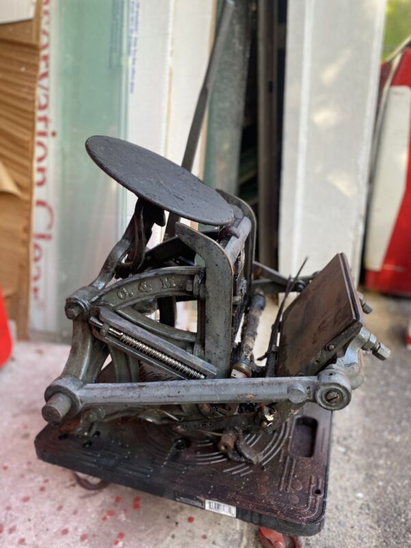 19th Century Curtis & Mitchell Columbian No. 2 Letterpress Printing Press