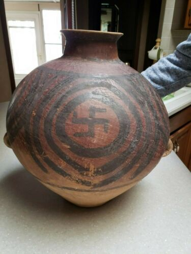 Large Ancient Chinese Neolithic Terracotta Vessel