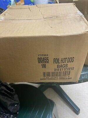 Hot Dog Hotdog Foil Bags For Concession Use 1000 Case