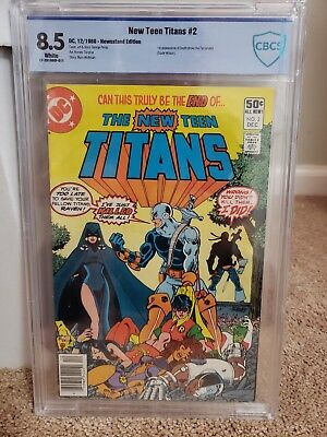 Teen Super Heros (THE NEW TEEN TITANS #2 CBCS 8.5 WHITE PAGES! NEWSSTAND 1ST APP. DEATHSTROKE!)
