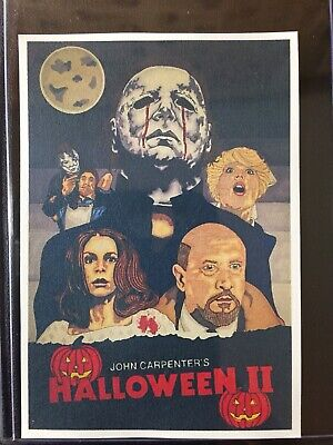 "Halloween 2  ""Poster"" Michael Myers Sketch Card STICKER Print Artist Tony Keaton (Cartoon Halloween Sketches)"