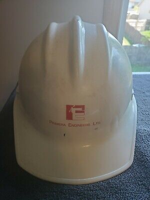 Vintage Bullard Plastic Safety Hard Hat Model 3000 Primera Engineers Ltd