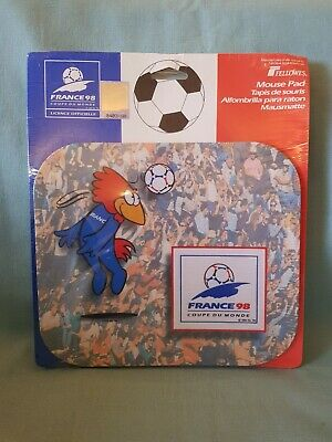 Official Licensed France 1998 World Cup Mascot Mouse Mat-BNIP Collectable Rare  Licensed Mascot Mats