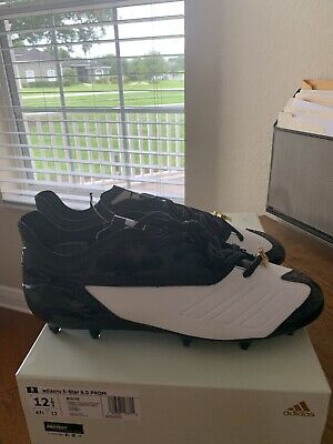 NEW Adidas 5-Star 6.0 Prom Black/White Football Cleats Size 12.5 - FREE SH