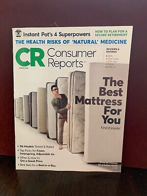 Consumer Reports Magazine The Best Mattress For You Mar