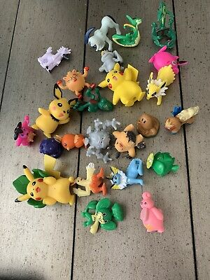 Pokemon Figures  - Medium Size lot of 24  figurines 1 1/2 to  2 Inches