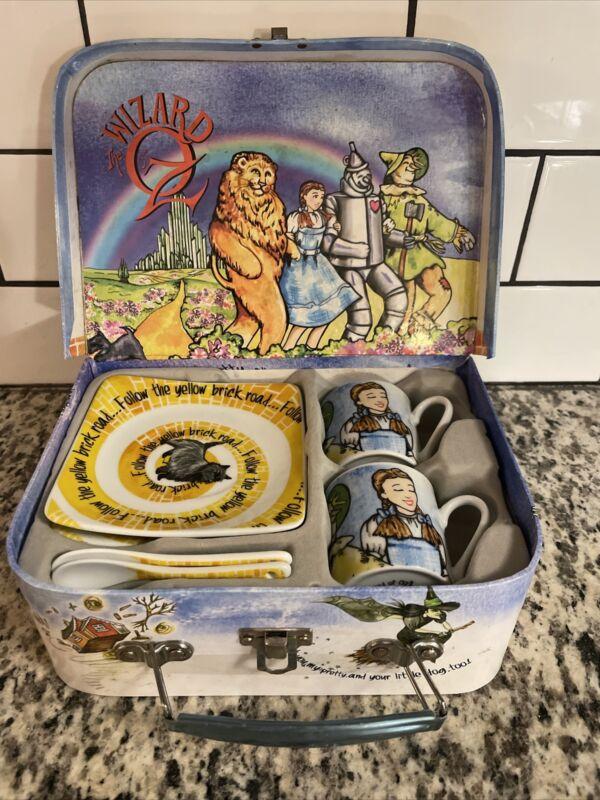 The Wizard of Oz 3 Oz Espresso Cups Saucers & Spoons Set w/ Box by Paul Cardew