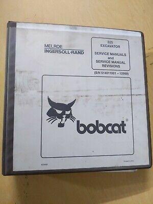 Bobcat 325 Excavator Service Manuals And Service Manual Revisions