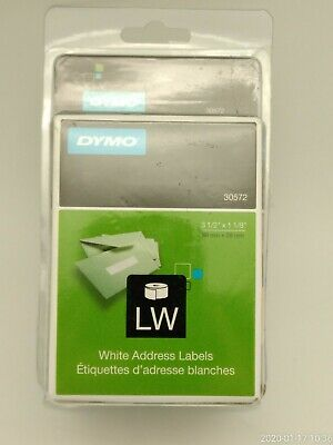 Dymo Labelwriter Address Labels 1 18 X 3 12 White 260 Labelsroll 2 Rollspack