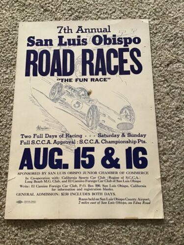 7 th. Annual San Luis Obispo Road Races poster,  August 15-16.