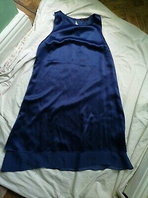 Isabella Oliver C Blue Sleeveless Maternity Dress Knee Length Occasion silk