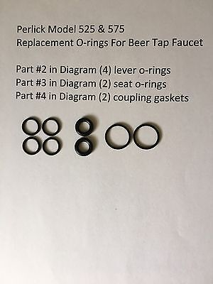 8 Beer Tap O-rings For Perlick 525 575 Faucet Homebrew Beer Faucet O-rings