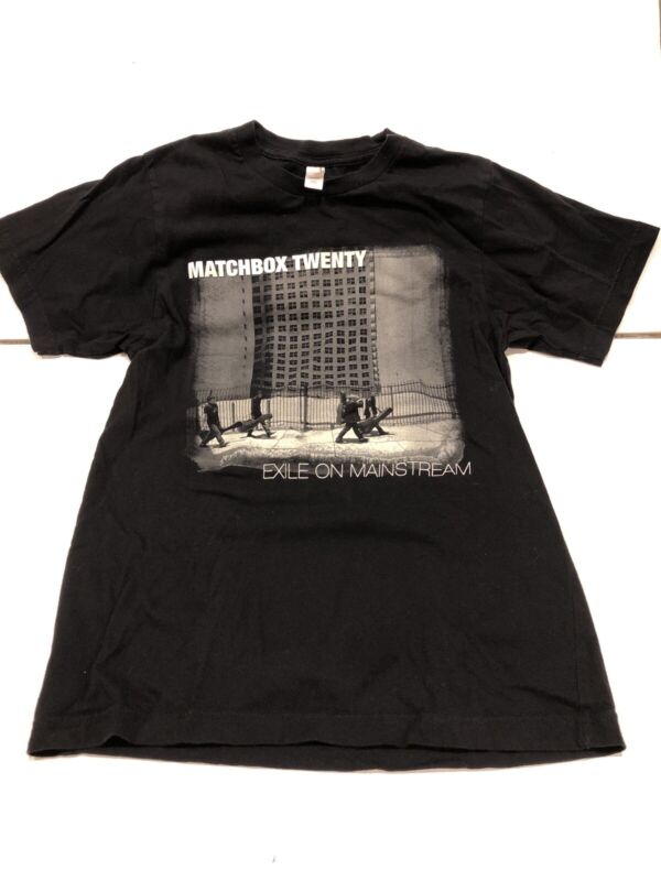 Matchbox Twenty 2008 'Exile In America Tour' Black Concert T-Shirt Small Nice!
