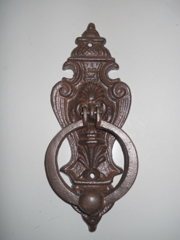 Cast Iron Antique Style VICTORIAN Door Knocker Brown Finish